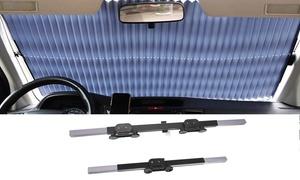 Visor Retractable Front Window Windshield Sun Shade SUV (27x70 inches)