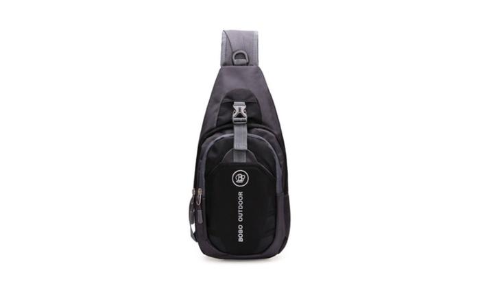 Nylon Chest Shoulder Bag Running Messenger Waterproof Men Backpack