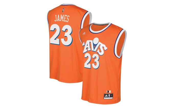 quality design 73bed 79004 LeBron James Cleveland Cavaliers Youth Hardwood Orange Replica Jersey