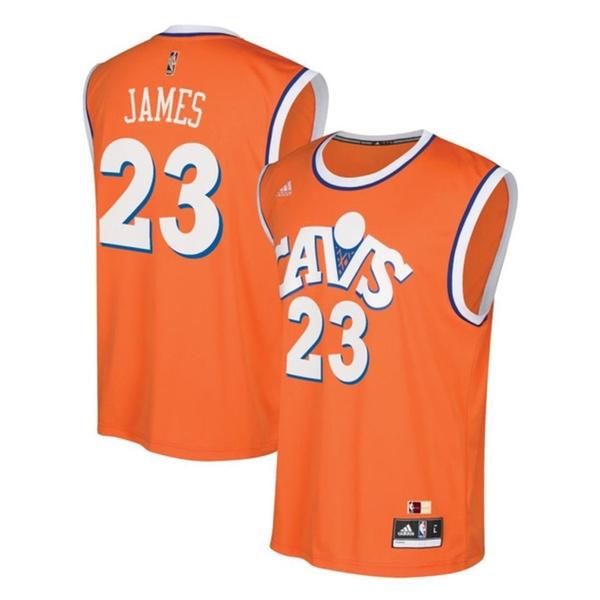 quality design 82fcc 9fd5a LeBron James Cleveland Cavaliers Youth Hardwood Orange Replica Jersey