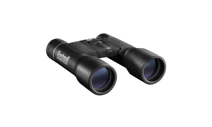 Bushnell PowerView Binocular 10X32mm-Roof Prism-Black-FRP