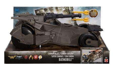 "Mattel Justice League Cannon Blast 12"" Batmobile™ Vehicle In Open Tray 36eb90ea-c5dc-4290-9b76-9156f36bf3df"