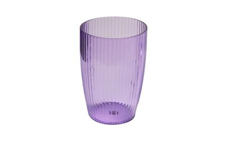 Carnation Home Fashions Rib-Textured Waste Basket & Tumbler 724d156c-5605-4daf-a75f-00d98389c56f