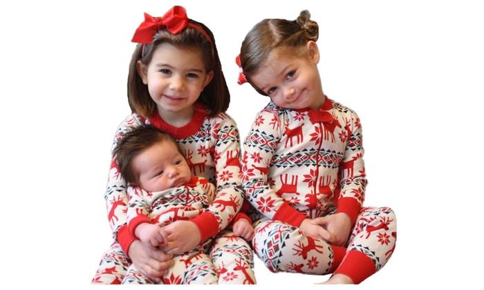 Christmas Family Pajamas Set.Kids Christmas Family Pajamas Set Deer Sleepwear Nightwear