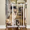 Extra Tall Walk-Through Gate with Small Pet Door
