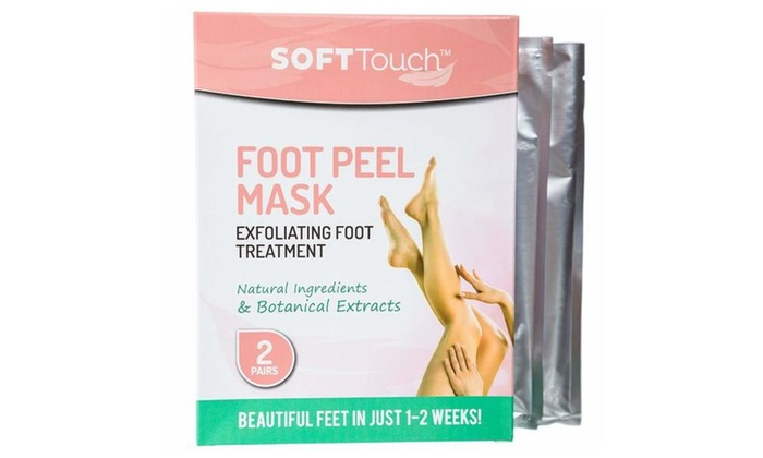 up to 37 off on soft touch foot peel mask exf groupon goods
