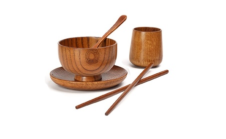Western Tableware Sets (Wood Chopsticks +Spoon+Bowl+Plate+Cup) 766825d3-9616-4ada-b7eb-9a5851db64fb