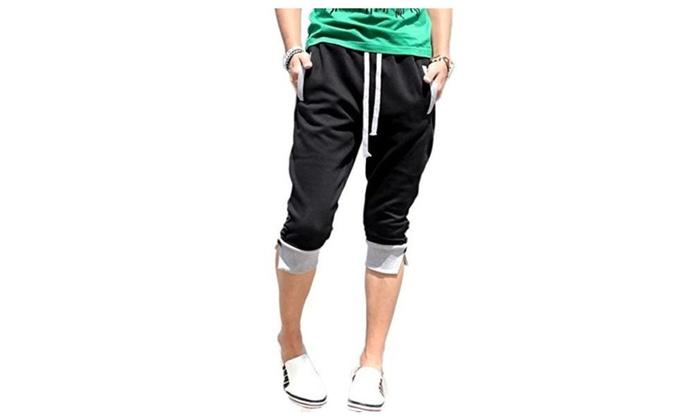 JINMIG Men's Skinny Drawstring Jogging Casual Sweat Shorts
