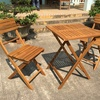 Wooden Outdoor Bistro Table and Chairs