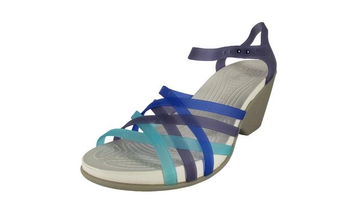 80c66e8e40e5 Crocs Womens Huarache Wedge Sandal Shoes