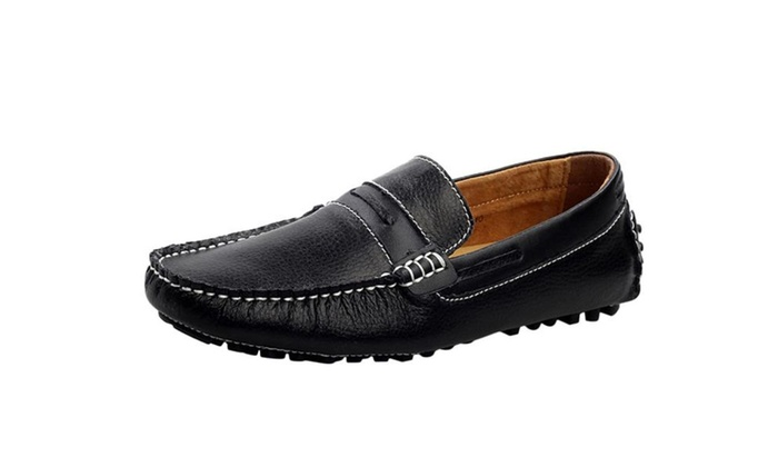 Men's Genuine Leather Fashion Walking Casual Loafers Shoes