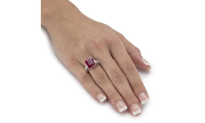 7 88 Tcw Genuine Ruby Topaz 925 Silver Ring Groupon