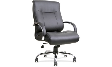 Lorell Leather Deluxe Big/Tall Chair