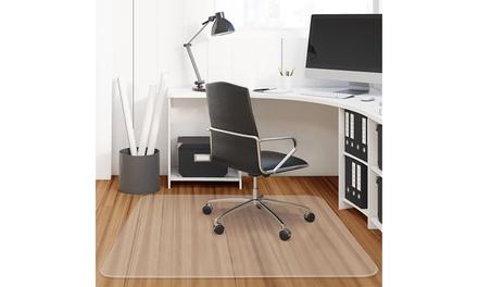 Costway 47'' x 47'' PVC Chair Floor Mat Home Office Protector foFloors