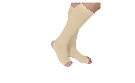 Open Toe and Heel Gel Therapy Compression Stockings (Nude) 581f5731-760b-4558-972c-14e646a3476d
