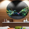 Abstract Motion Banner' Disc Contemporary Circle Metal Wall Art