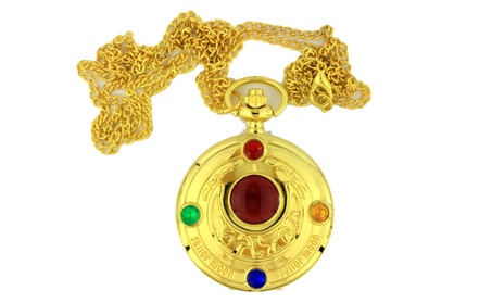 Sailor Moon Necklace Pocket Keychain Watch Gold Color 178d1019-2ed2-44ce-ab5e-0893e6b5f28d