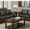 Bagheria Loveseat and Sofa Upholstered in Genuine Leather Match