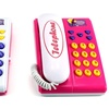 Fashion Angel Twin Telephones Wired Intercom Children's Kid's Toy Telephone Set