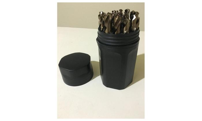 Brito Cobalt Steel Jobber Length Drill Bit Set Round/Spiral (29 piece)