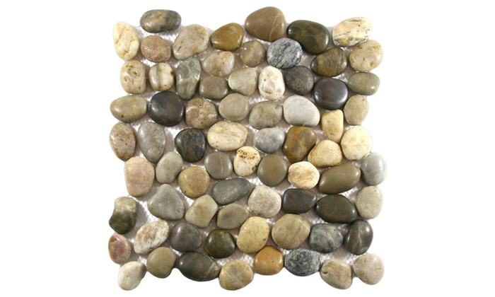 Off On River Rock Floor Stone Tile P