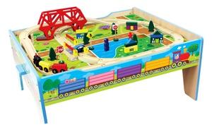 50 pc. Wood Farm Train Table