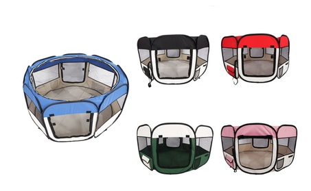 """45"""" Soft Oxford Foldable Playpen For Pets a3833802-d9fc-4ab4-b730-74f7bbc99796"""