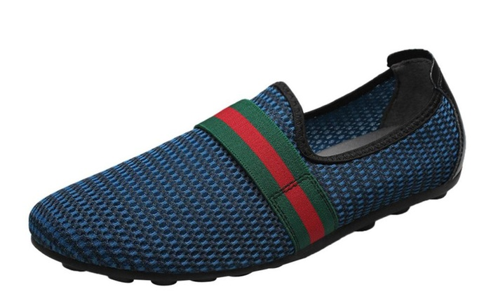 Men's Simple Solid Slip on Loafers Shoes