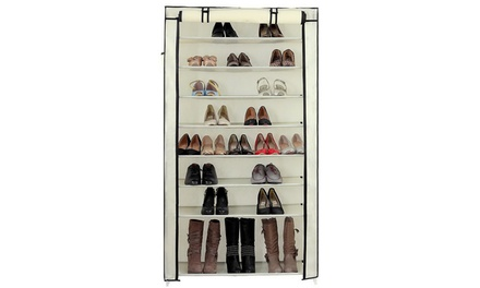 10 Tiers Shoe Rack with Non-Woven Fabric Shoe Cabinet Organizer Was: $35.99 Now: $15.99.