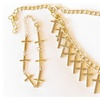 Elegant Gold 14 Cross Necklace with Matching Sideways Cross Bracelet