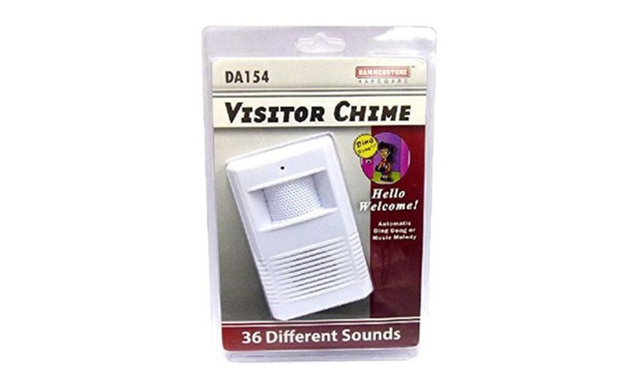 Wireless Motion Sensor Visitor Chime With 36 Different Sounds