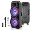 Technical Pro Wireless Bluetooth Party Speaker Set with 2 Microphones