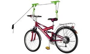 Heavy Duty Bicycle Garage Storage Lift Hoist 100LB Capacity