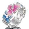 Butterfly Flower White Cubic Zirconia Stone Ring