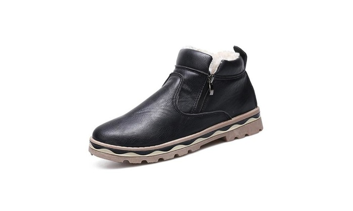 Men's Solid Round Toe Casual Martin Boots