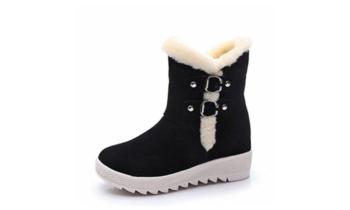 Women's Fashion Warm Winter  Casual Wedge Ankie Snow Boot