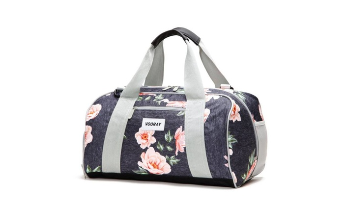 16d0e6fa748a Vooray Burner 16 Compact Gym Bag With Shoe Pocket Rose Navy