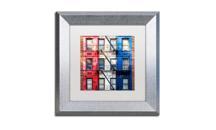 Philippe Hugonnard \'American Colors\' Silver Framed Art | Groupon