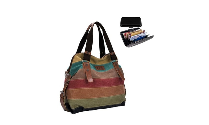 Viva Voyage Wild Multi Colored Journey Bag With Free RFID Wallet