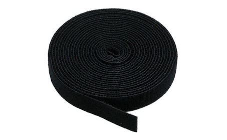 Monoprice Hook and Loop Fastening Tape, 5 yards/roll, 0.75 in, Black 5c7c110d-936f-47b0-8d4d-0282e8ab6b96