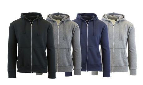 Mens Fleece-Lined Zip-Up Hoodie Sweatshirt 703aeab1-69de-44f5-b0b5-30d7c570d3c9