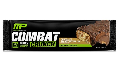 Combat Crunch Protein Bar, Multi-Layered Baked Bar, 20g Protein,