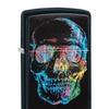 Zippo Colorful Skull Pocket Lighter, Black Matte 28042