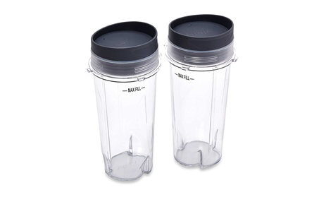 Ninja Single Serve 2 Cup Set, 16-Ounce (fits Ninja BL Blenders) 0284e559-cbbd-45ab-b97f-af9a77573a22
