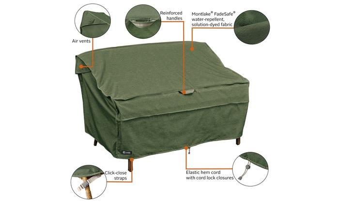 Montlake Fadesafe Heavy Duty Patio Bench Loveseat Sofa Cover