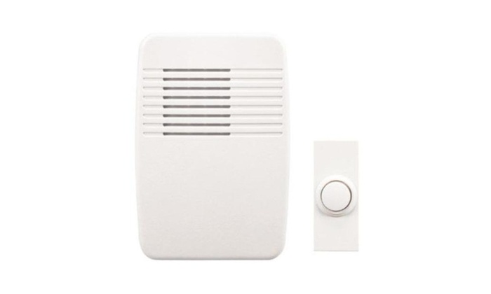 Heath Zenith Sl-6166-c Plugin Wireless Door Chime, 100', White