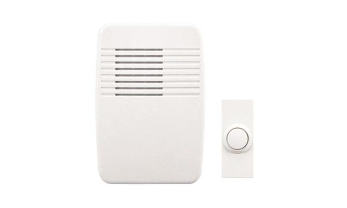 Heath Zenith Sl-6166-c Plugin Wireless Door Chime, 100', White
