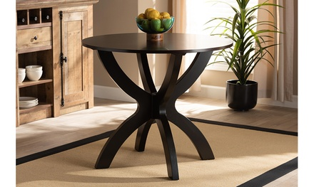 Tilde 35-Inch-Wide Round Wood Dining Table