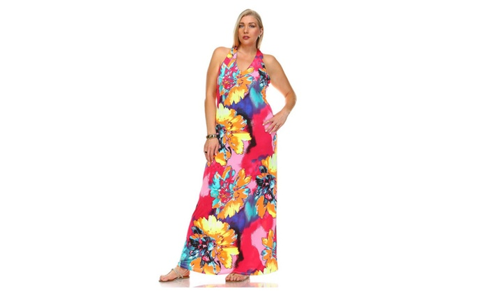 Up To 67 Off On Neon Floral Plus Size Open Ba Groupon Goods