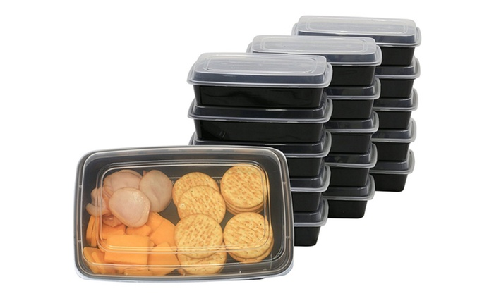 16 Pack Food Grade Meal Prep Storage Container Boxes 28 Ounces
